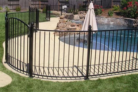Colorado Wrought Iron Pool Fence